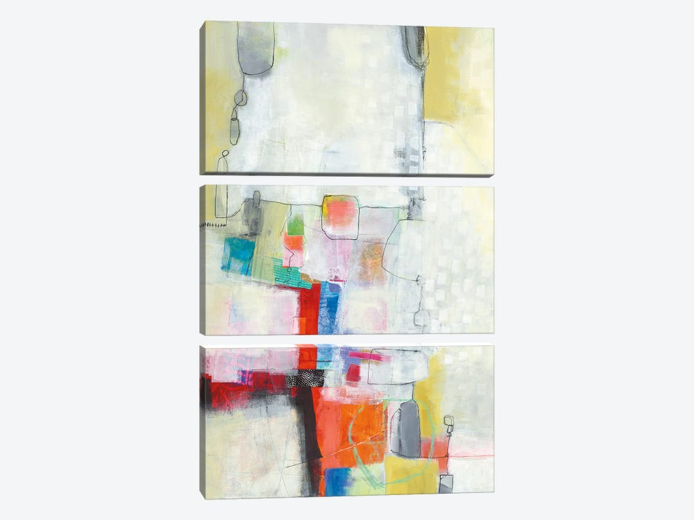 A Day In The City by Jane Davies 3-piece Canvas Art