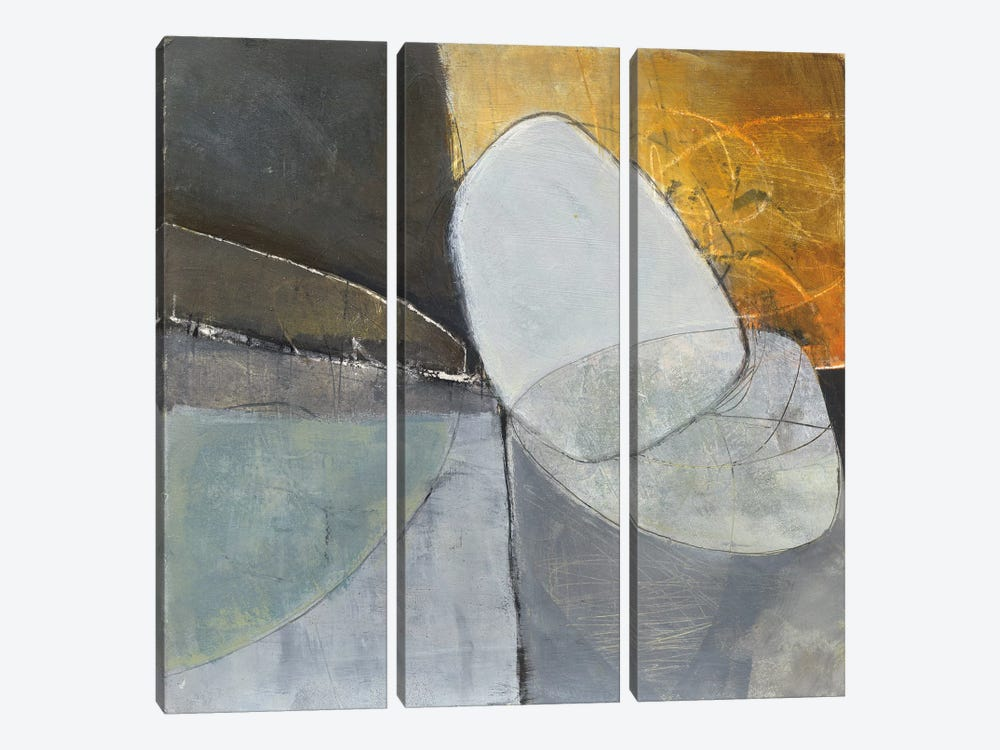 Abstract Pebble II by Jane Davies 3-piece Canvas Print