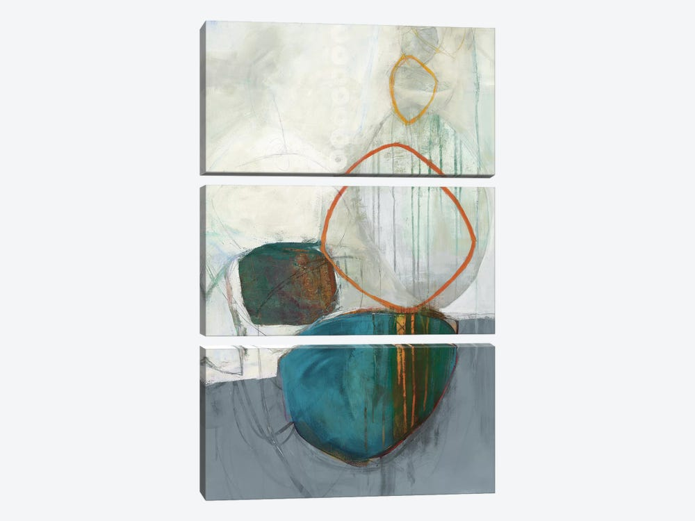 Circle Tower II by Jane Davies 3-piece Canvas Art Print