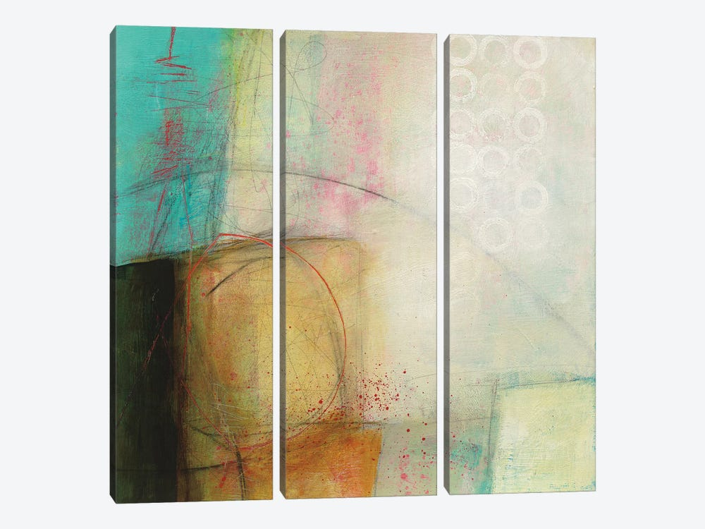 Circles I by Jane Davies 3-piece Canvas Wall Art