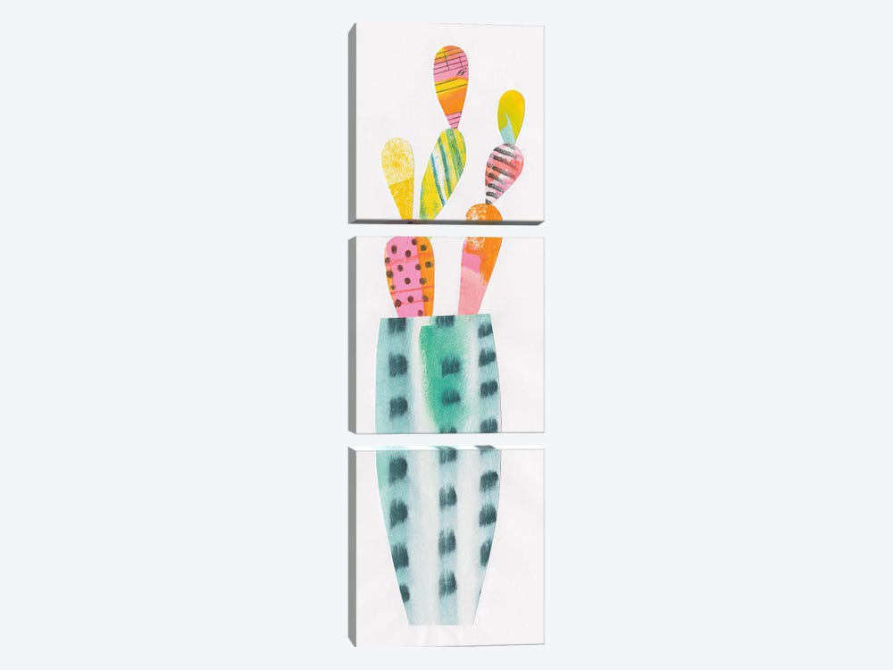 Collage Cactus I by Melissa Averinos 3-piece Canvas Print