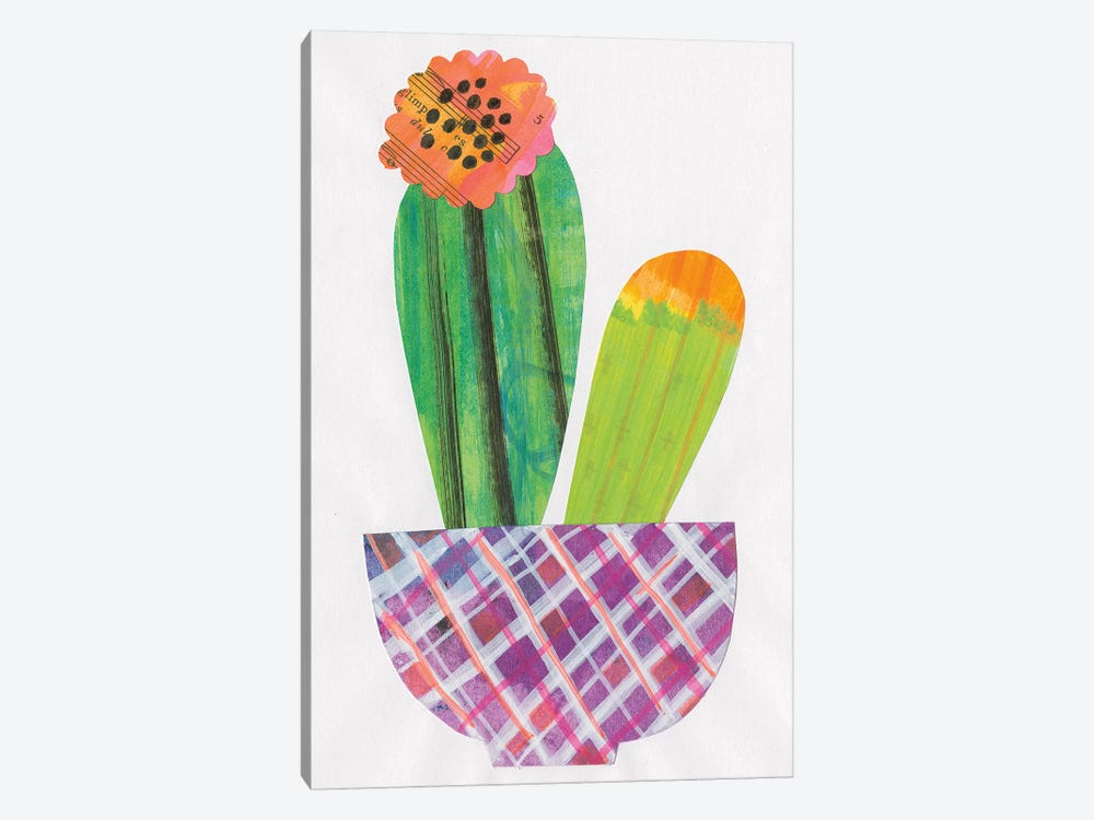 Collage Cactus II by Melissa Averinos 1-piece Canvas Print