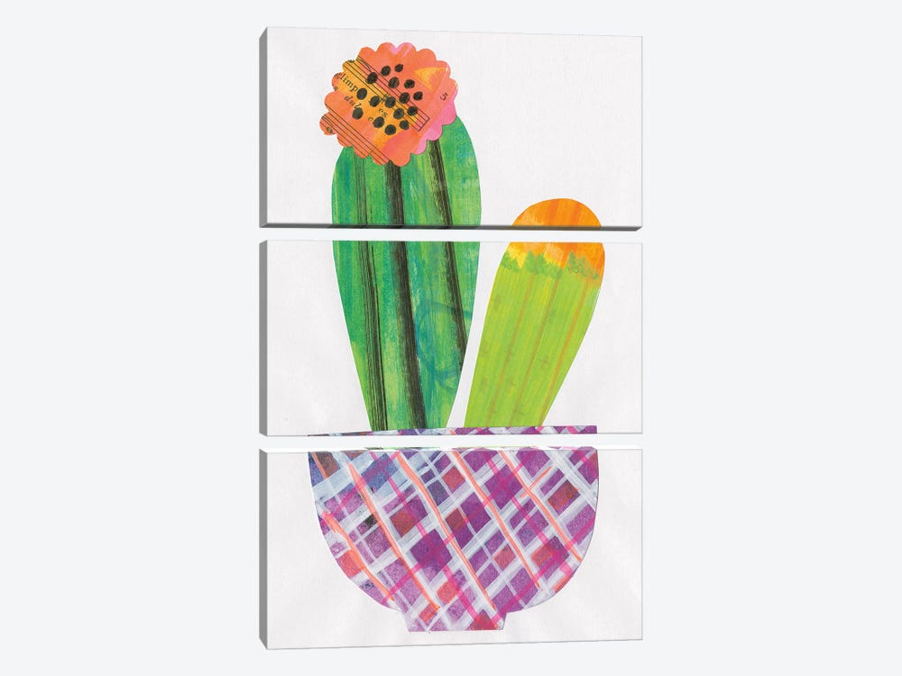 Collage Cactus II by Melissa Averinos 3-piece Canvas Print