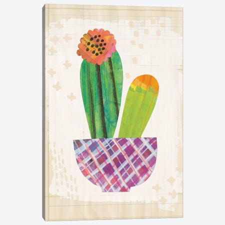 Collage Cactus II.A Canvas Print #WAC4803} by Melissa Averinos Canvas Print