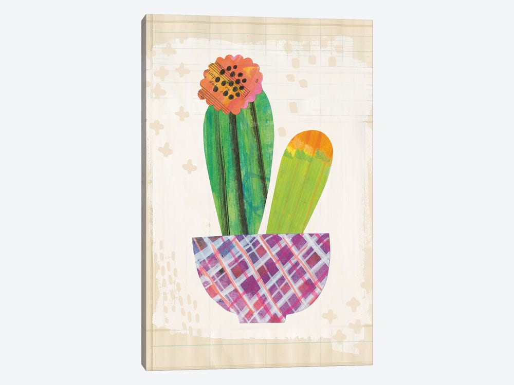 Collage Cactus II.A by Melissa Averinos 1-piece Canvas Wall Art