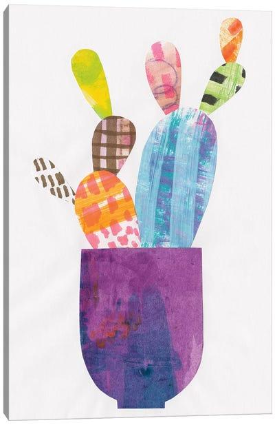 Collage Cactus III Canvas Art Print