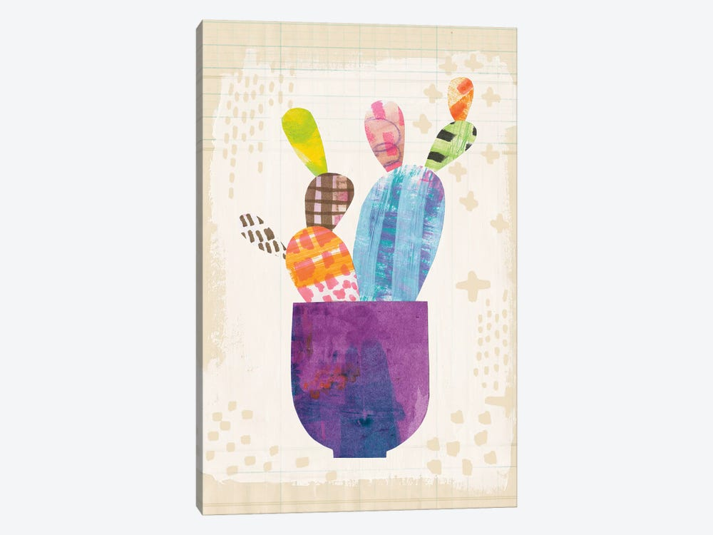 Collage Cactus III.A by Melissa Averinos 1-piece Canvas Art
