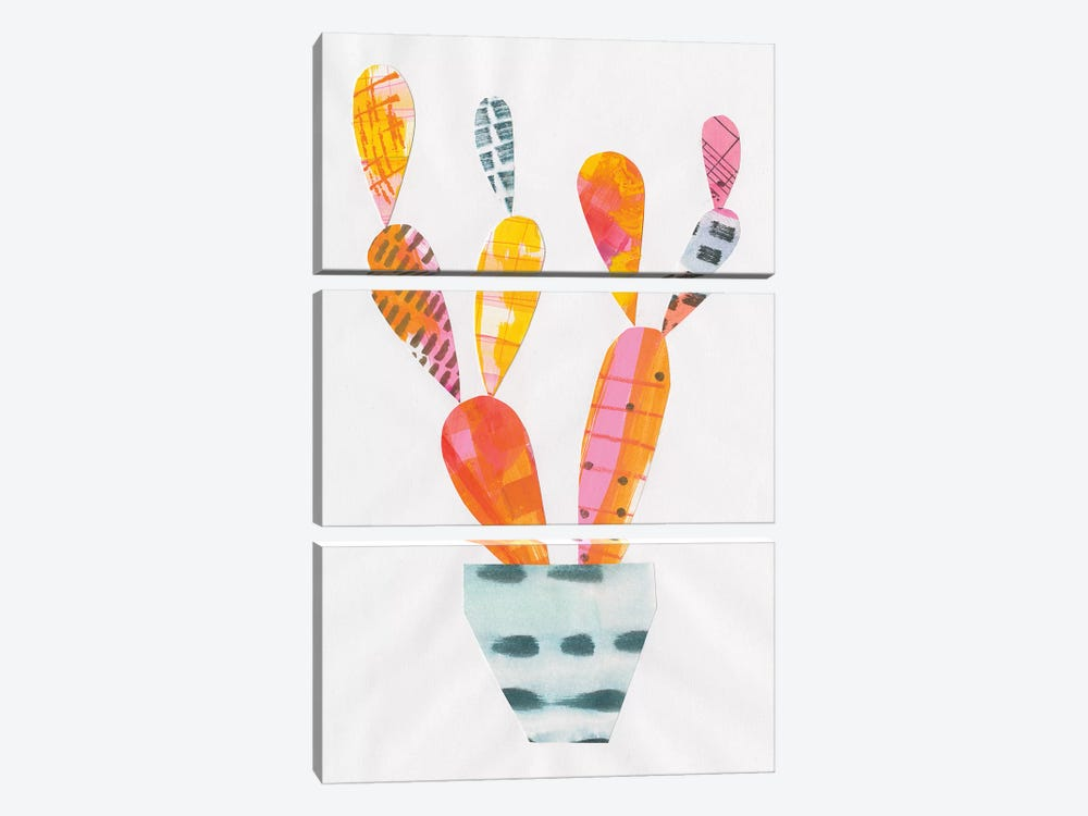Collage Cactus IV by Melissa Averinos 3-piece Art Print