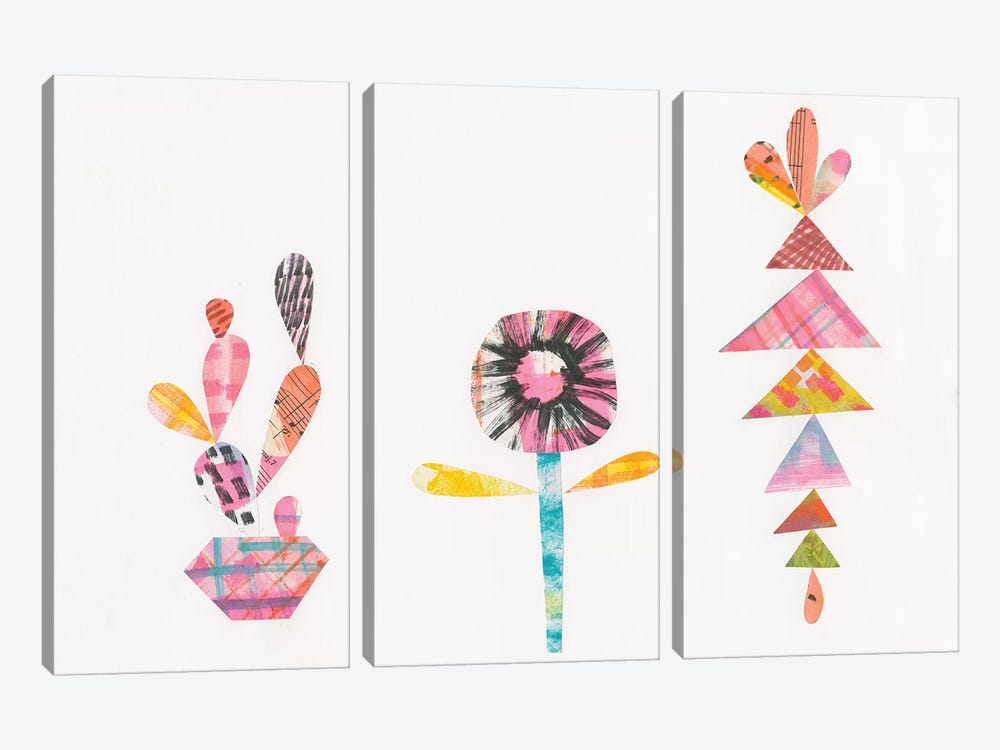 Collage Cactus IX by Melissa Averinos 3-piece Art Print