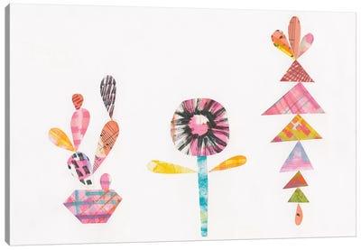 Collage Cactus IX Canvas Art Print