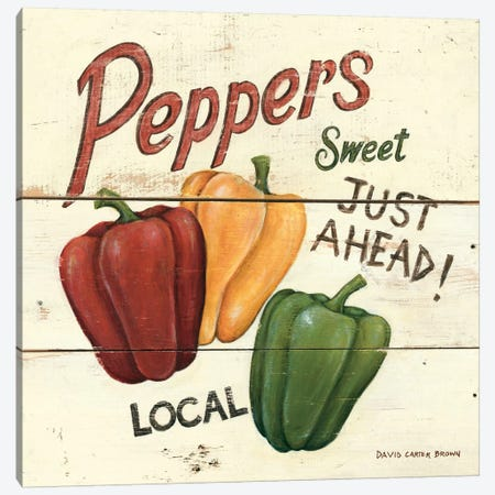 Sweet Peppers Canvas Print #WAC480} by David Carter Brown Canvas Art