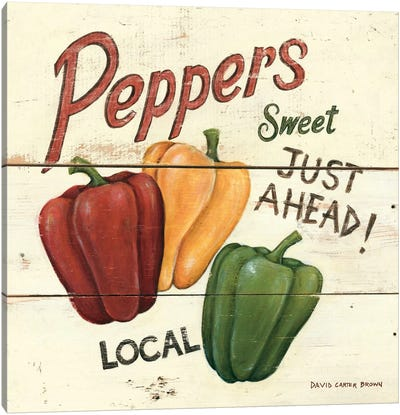 Sweet Peppers Canvas Print #WAC480