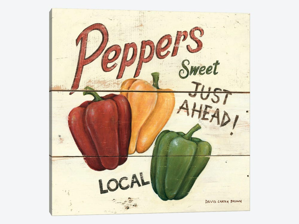 Sweet Peppers by David Carter Brown 1-piece Canvas Art Print