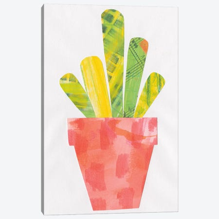 Collage Cactus VI Canvas Print #WAC4811} by Melissa Averinos Canvas Art