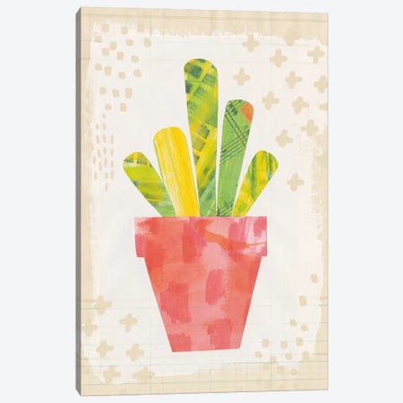 Collage Cactus VI.A Canvas Print #WAC4812} by Melissa Averinos Canvas Wall Art