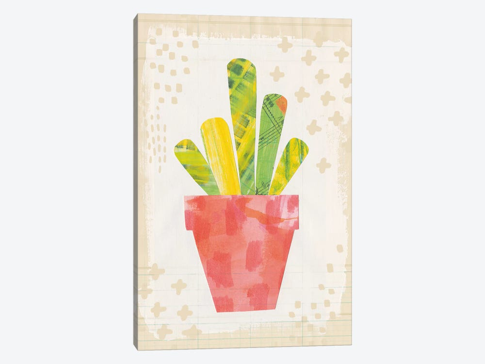 Collage Cactus VI.A by Melissa Averinos 1-piece Canvas Artwork
