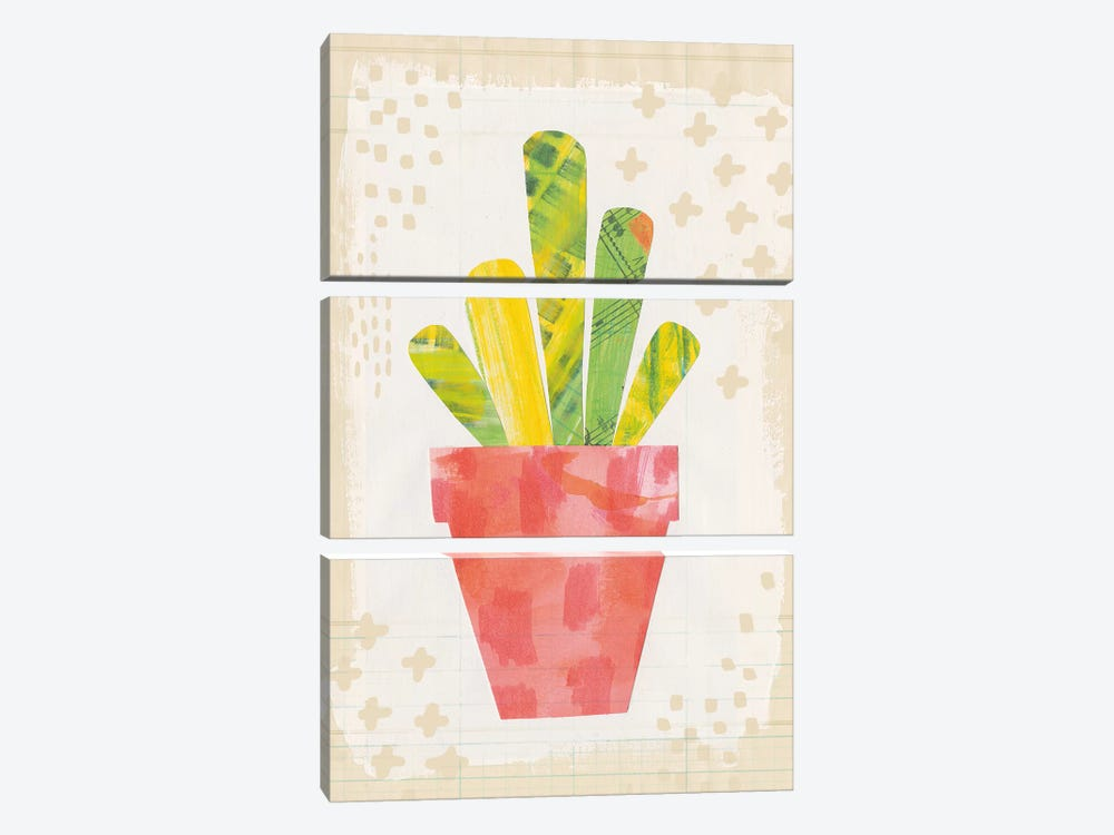 Collage Cactus VI.A by Melissa Averinos 3-piece Canvas Art