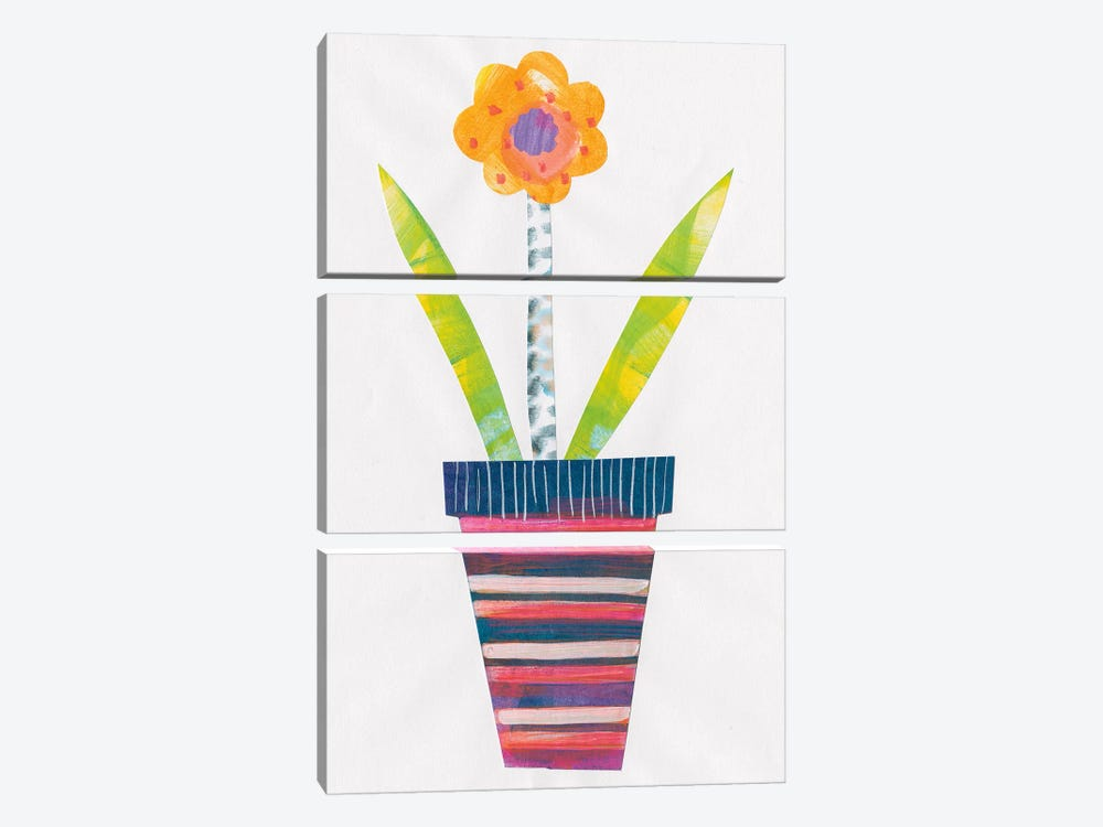 Collage Flower II by Melissa Averinos 3-piece Canvas Print