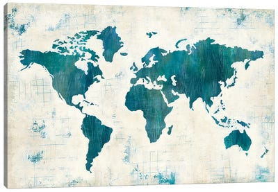 Discover The World II Canvas Art Print