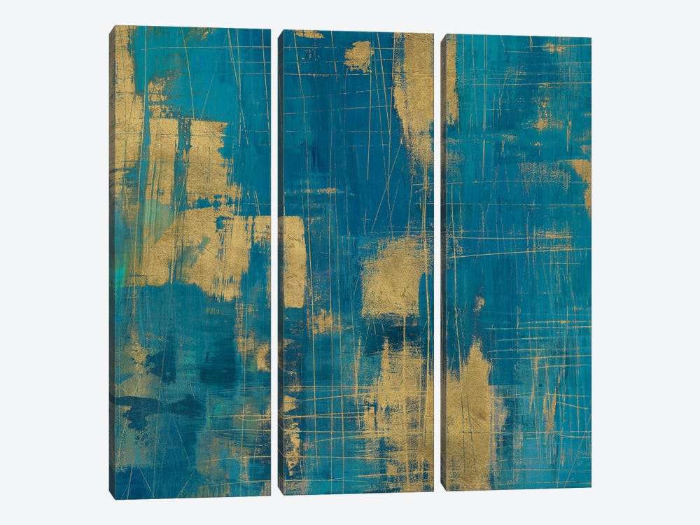 Northern Lights In A Golden Zoom by Melissa Averinos 3-piece Art Print