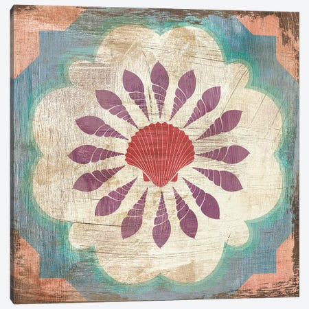 Bohemian Sea Tiles VI Canvas Print #WAC4827} by Cleonique Hilsaca Canvas Wall Art