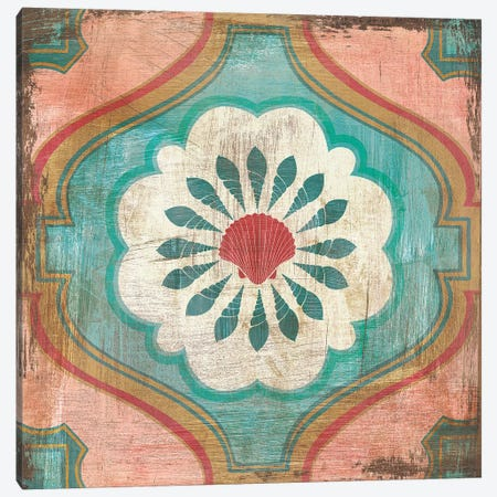 Bohemian Sea Tiles VIII Canvas Print #WAC4829} by Cleonique Hilsaca Canvas Print