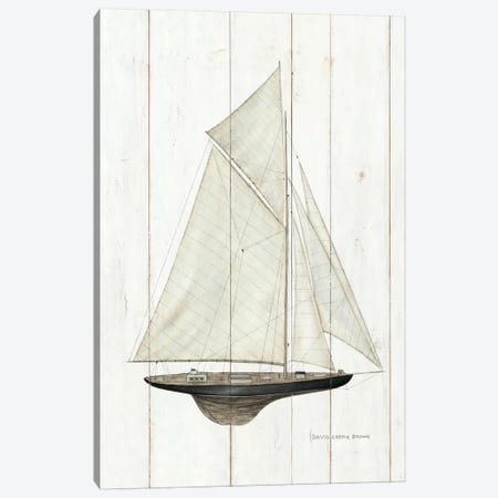Sailboat I Canvas Print #WAC484} by David Carter Brown Art Print