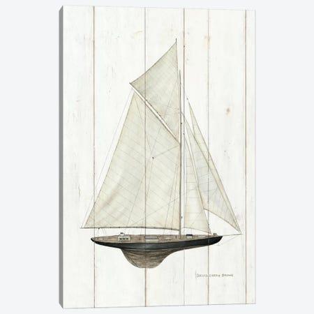 Sailboat I Canvas Print #WAC484} by David Carter Brown Art Print