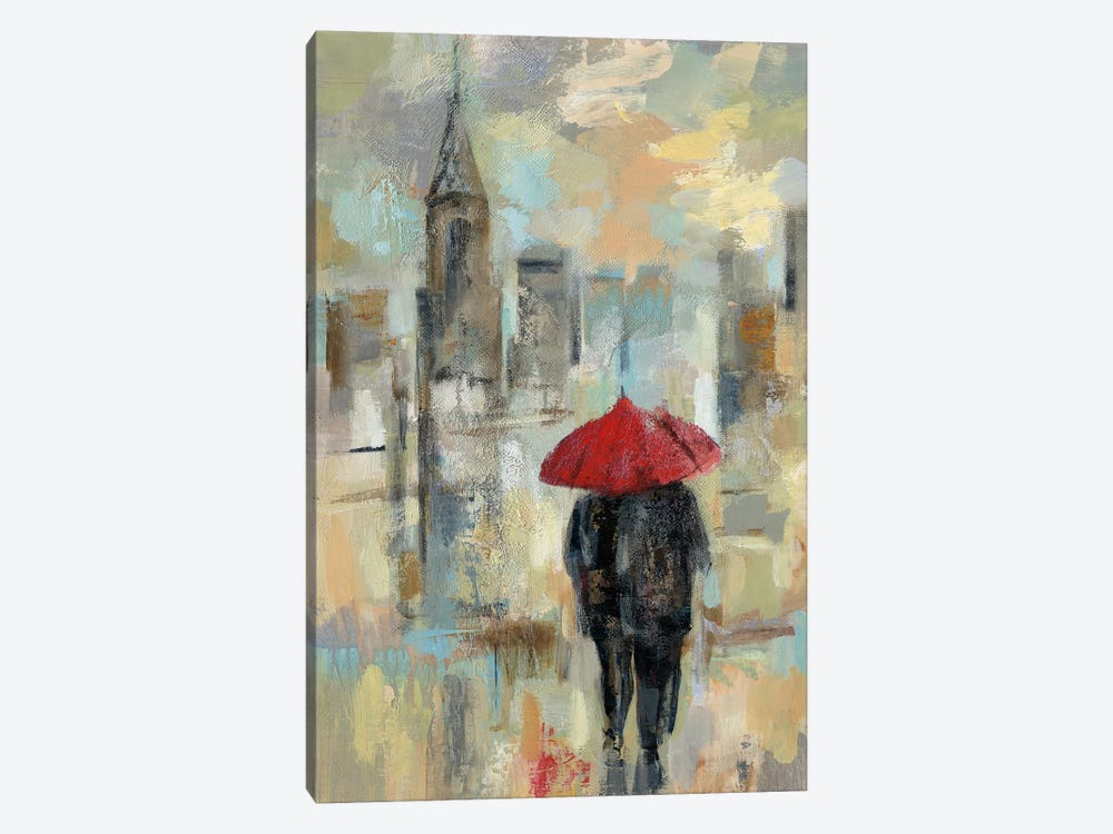 Rain In The City I by Silvia Vassileva 1-piece Canvas Print