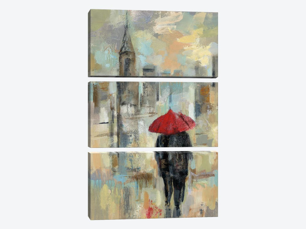 Rain In The City I by Silvia Vassileva 3-piece Canvas Print