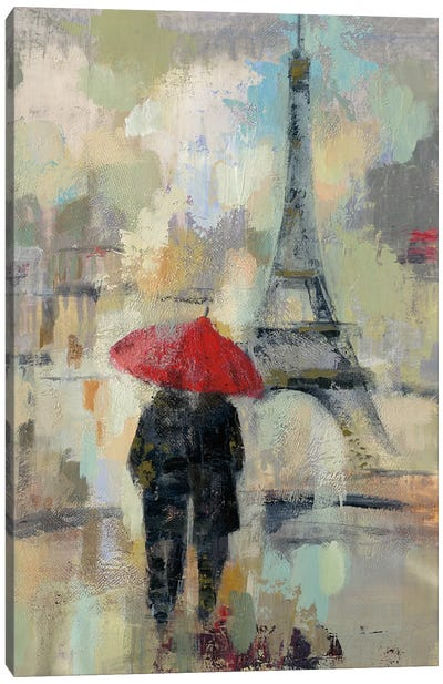 Rain In The City II Canvas Art Print