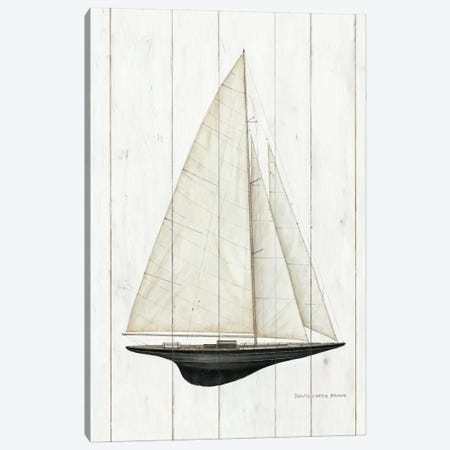 Sailboat II Canvas Print #WAC485} by David Carter Brown Art Print
