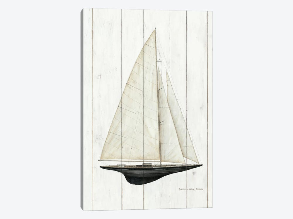 Sailboat II by David Carter Brown 1-piece Canvas Artwork