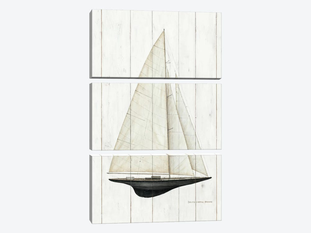 Sailboat II by David Carter Brown 3-piece Canvas Art