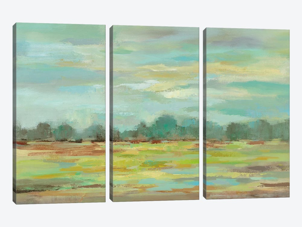 Teal Forest by Silvia Vassileva 3-piece Canvas Print