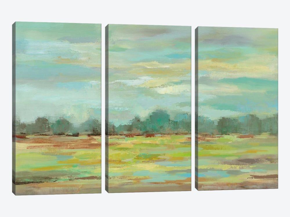 Teal Forest by Silvia Vassileva 3-piece Canvas Print