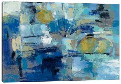 Ultramarine Waves III Canvas Art Print
