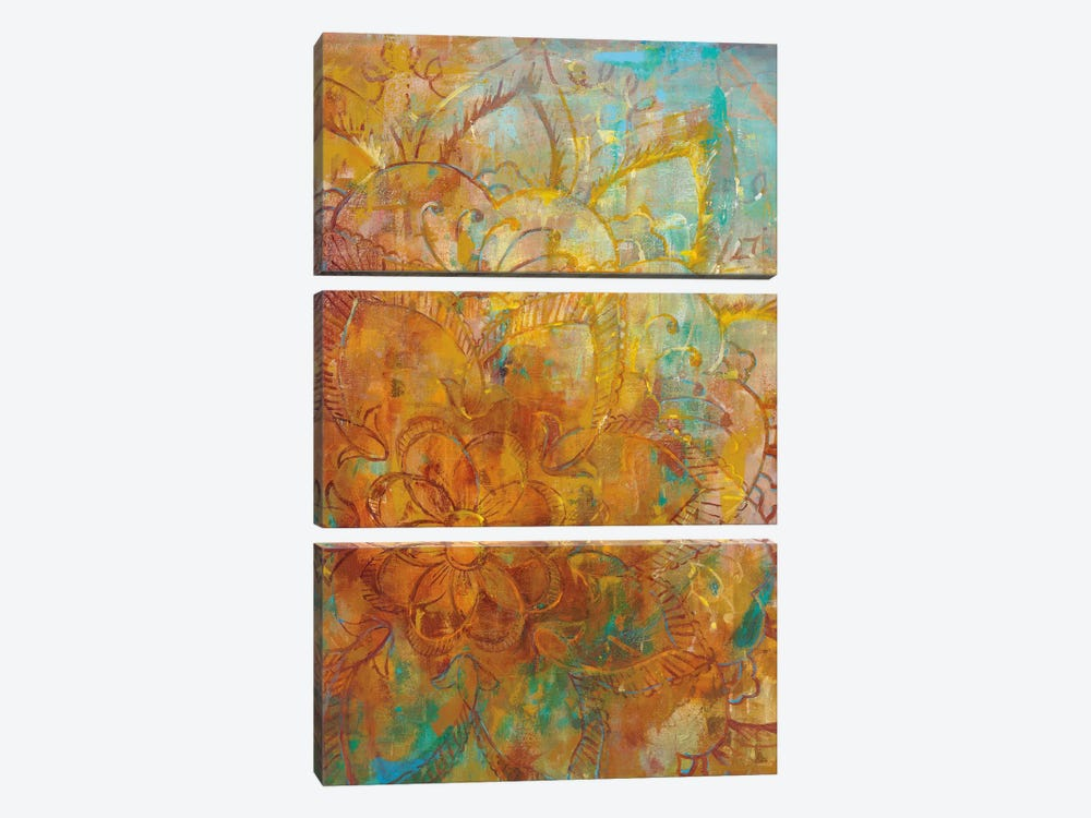 Bohemian Abstract Bright I by Danhui Nai 3-piece Canvas Print