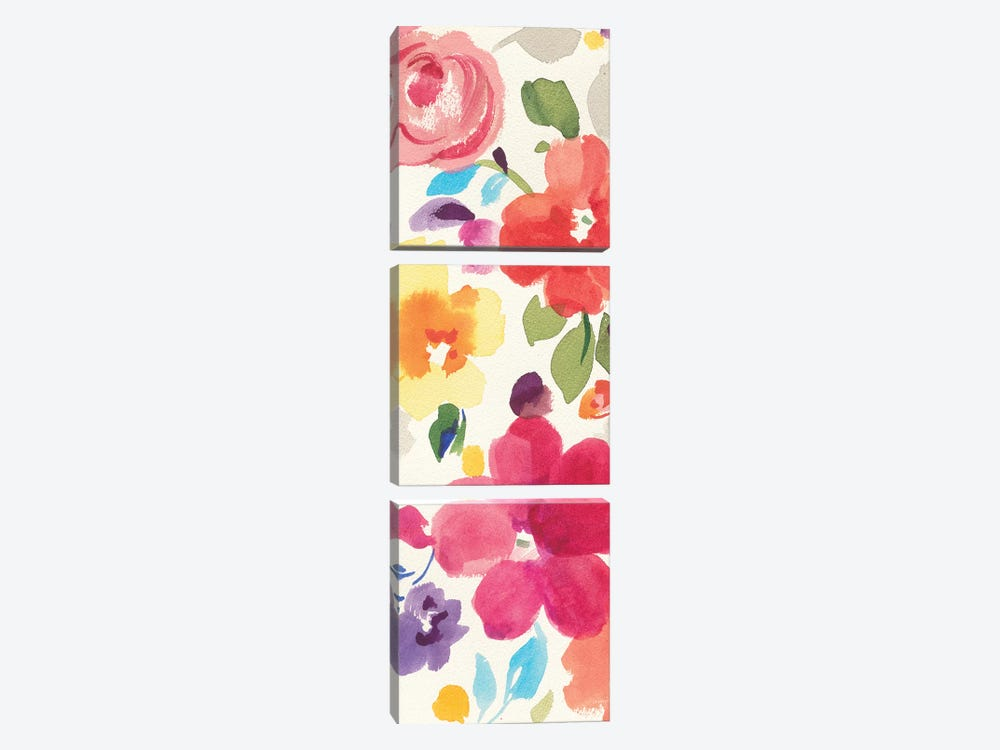 Popping Florals II by Danhui Nai 3-piece Art Print