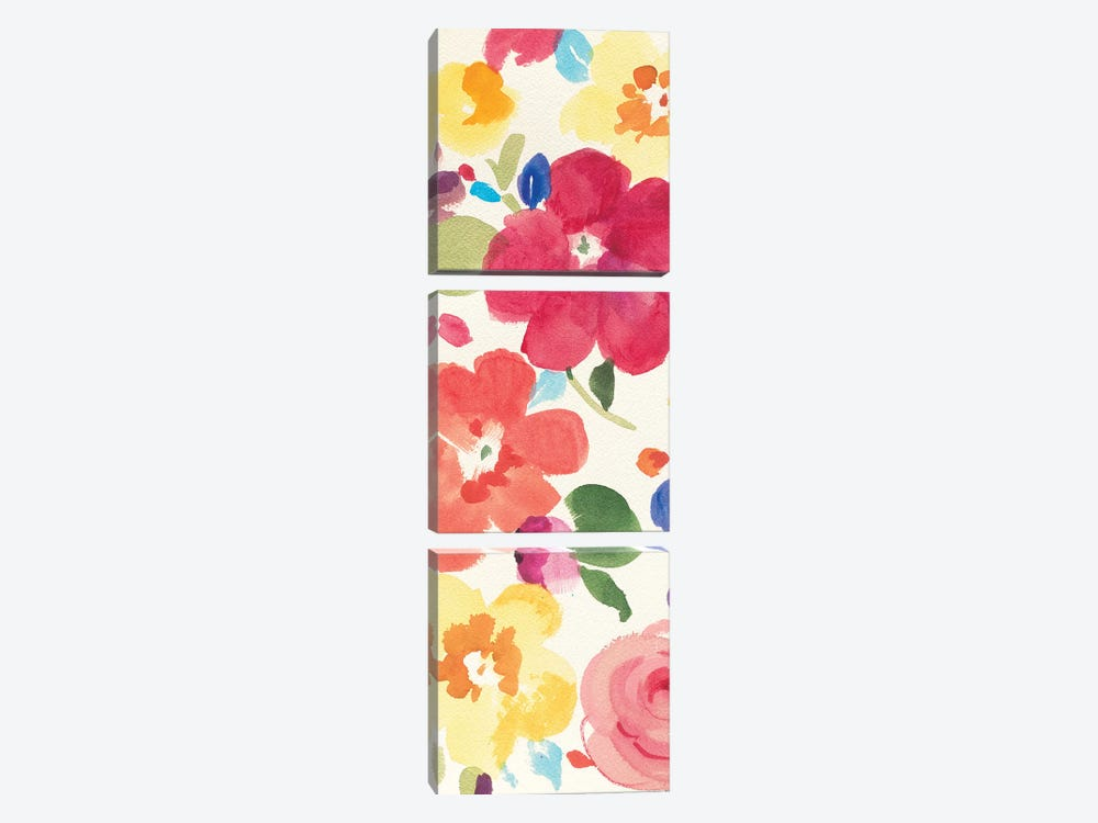 Popping Florals III by Danhui Nai 3-piece Canvas Art