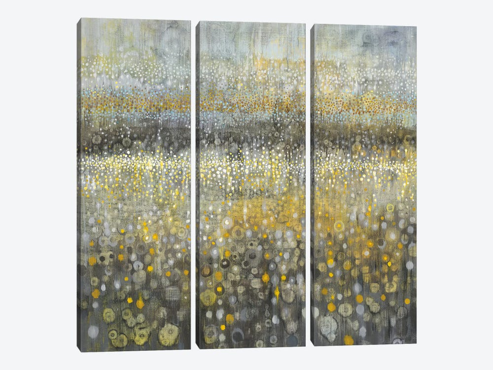 Rain Abstract II by Danhui Nai 3-piece Canvas Wall Art