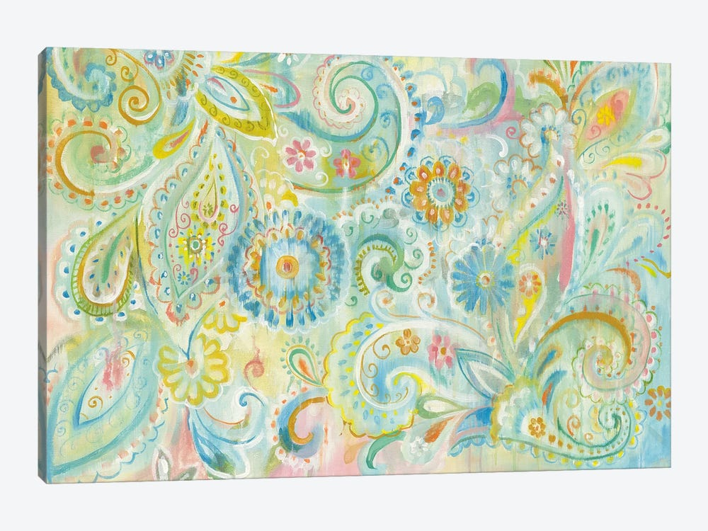 Spring Dream Paisley by Danhui Nai 1-piece Canvas Art