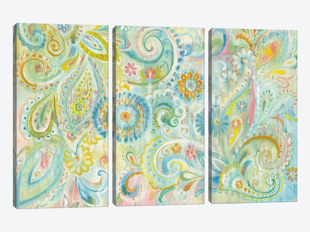 Spring Dream Paisley by Danhui Nai 3-piece Canvas Wall Art