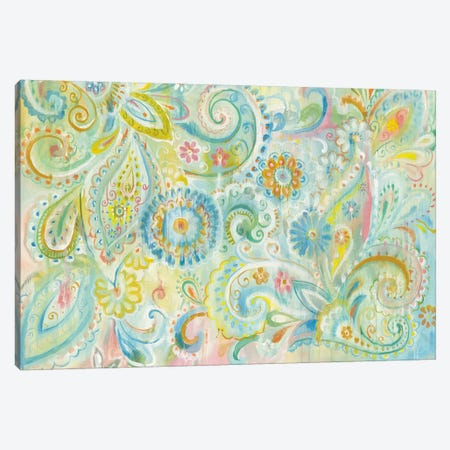Spring Dream Paisley Canvas Print #WAC4874} by Danhui Nai Canvas Art Print