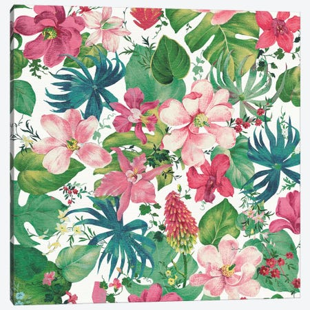 Tropical Dream Bright On White I Canvas Print #WAC4879} by Danhui Nai Canvas Art