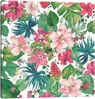 Tropical Dream Bright On White I Canvas Art Print