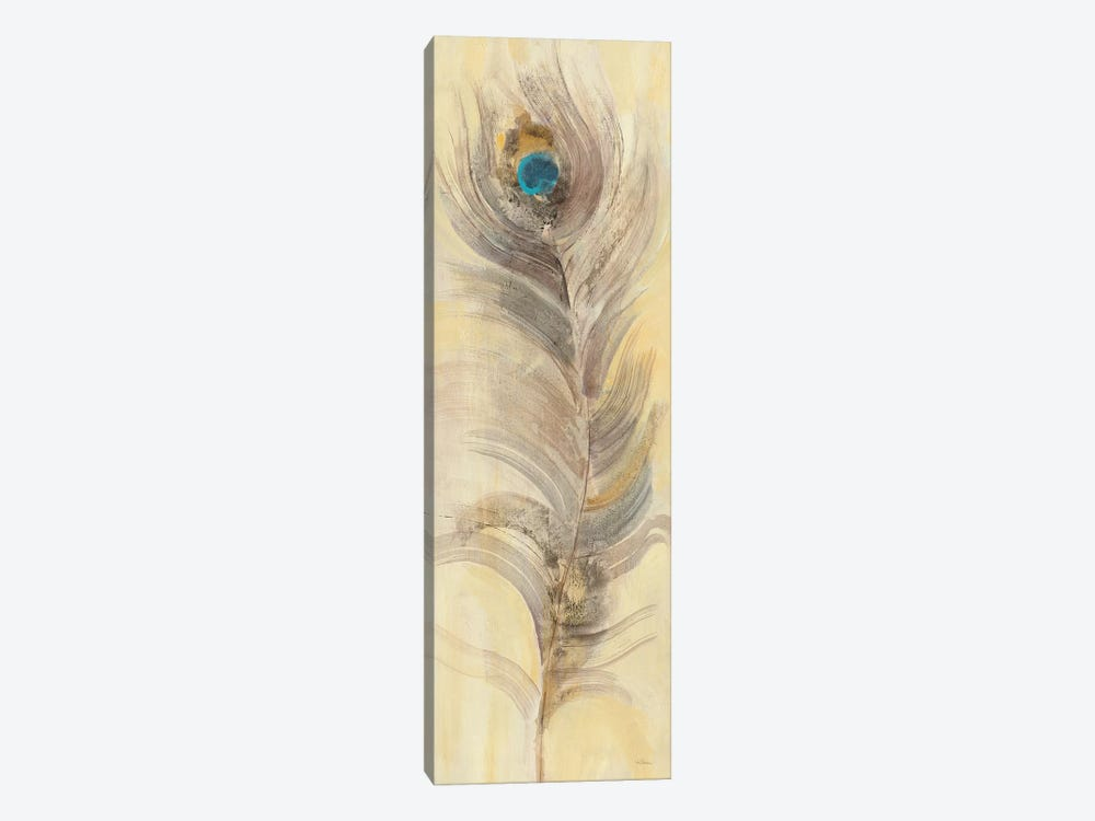 Blue Eyed Feathers II 1-piece Canvas Art Print