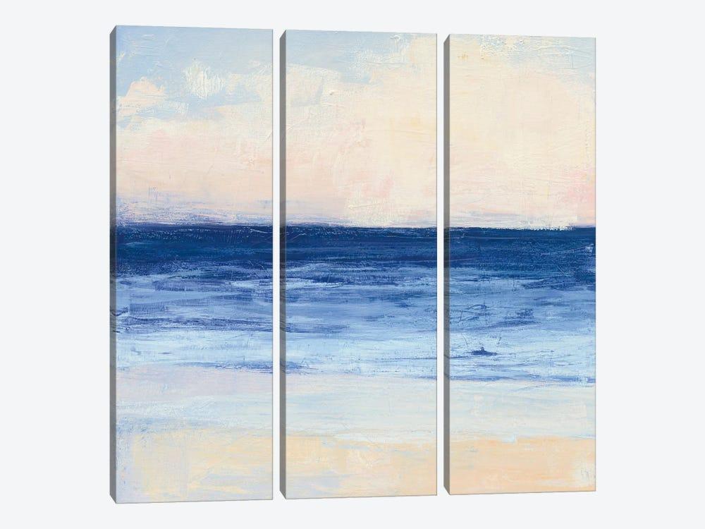 True Blue Ocean I by Julia Purinton 3-piece Canvas Print