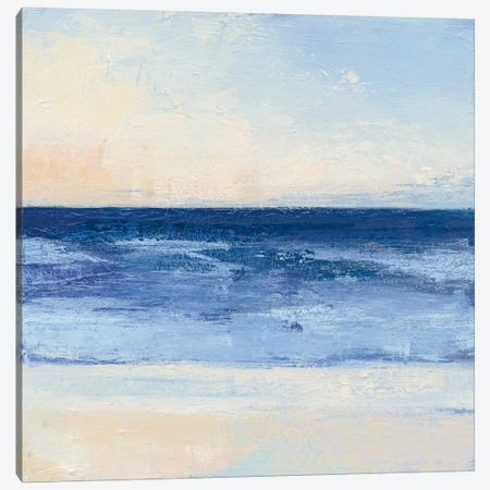 True Blue Ocean II Canvas Print #WAC4898} by Julia Purinton Canvas Art