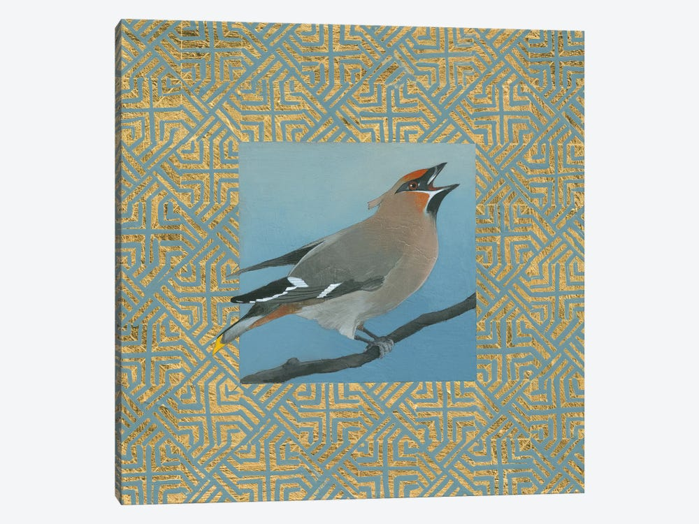 Cedar Waxwing Border by Kathrine Lovell 1-piece Art Print